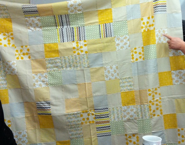 Aly's Yellow Quilt for her friend.