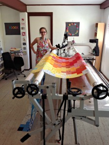 A beautiful studio in Gemma's new home, where she runs her long arm quilting business