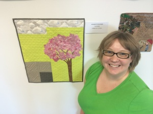 Me with my quilt at the Under 35s Quilt Comp in Sydney earlier this year.