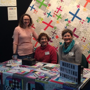 Canberra Modern Quilt Guild 2015 Raffle Quilt and members